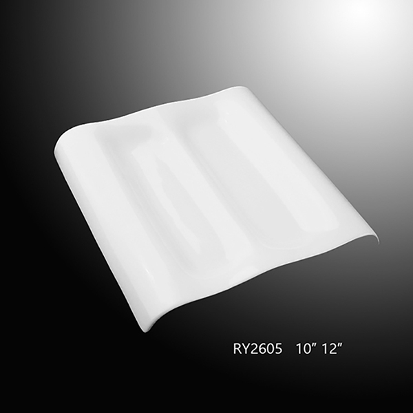 Rectangle Divided Plate -R...