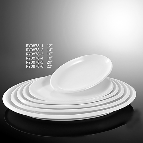 Thick Rim Oval Plate-RY0878