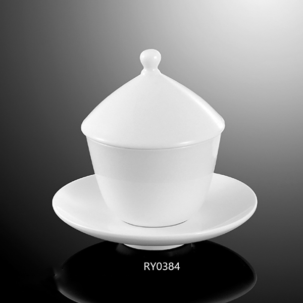Tea Cup with cover and sauc...