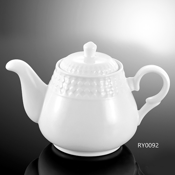 Square Vein Tea Pot W/Li...
