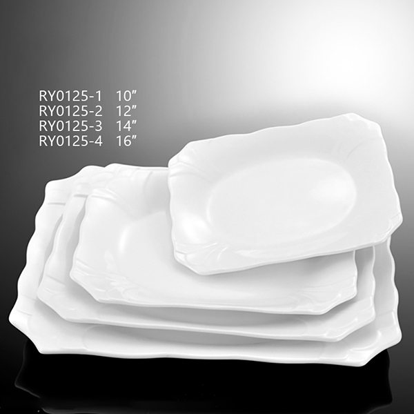 Orchid Rectangular Plate -RY0125