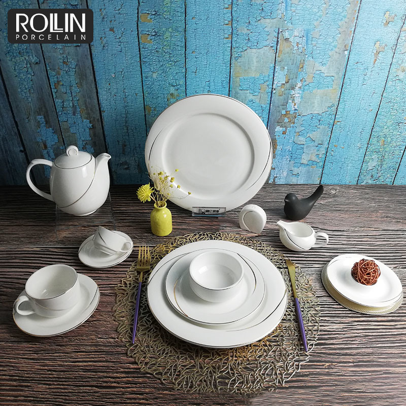 New-Design-Fine-Star-Hotel-Use-Tableware-Gold-Rim-Dinner-Set-Porcelain-Dinnerware